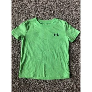 Under Armour Highlighter green toddler shirt